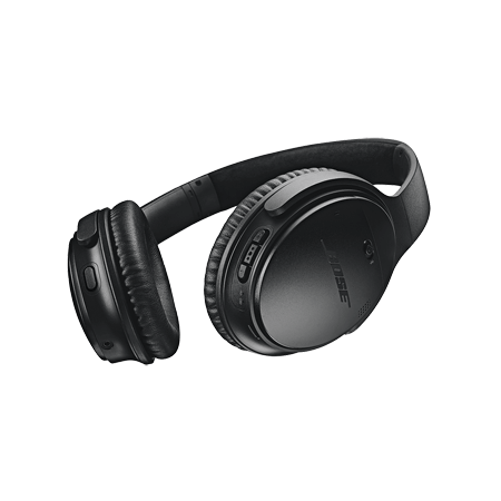 BOSE QuietComfort 35 II Black, Acoustic Noise Cancelling Wireless Bluetooth headphones - Black. Now with the Google Assistant built in.