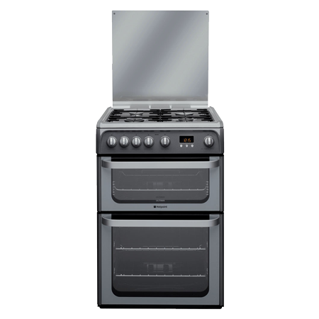 Hotpoint HUG61G, 60cm Gas Cooker with Variable Gas Grill - Graphite
