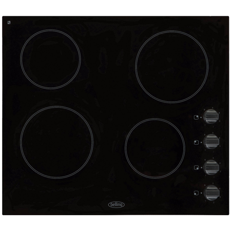 belling CH60RX, Electric Ceramic Hob with Rotary Controls in Black